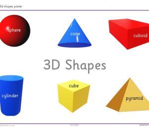 3d shapes poster KS1