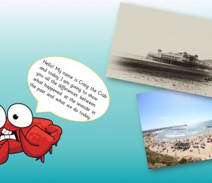 Seaside Past & Present Powerpoint Presentation
