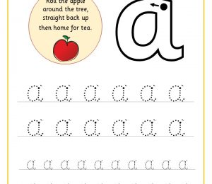 Letter Aa Handwriting Sheet