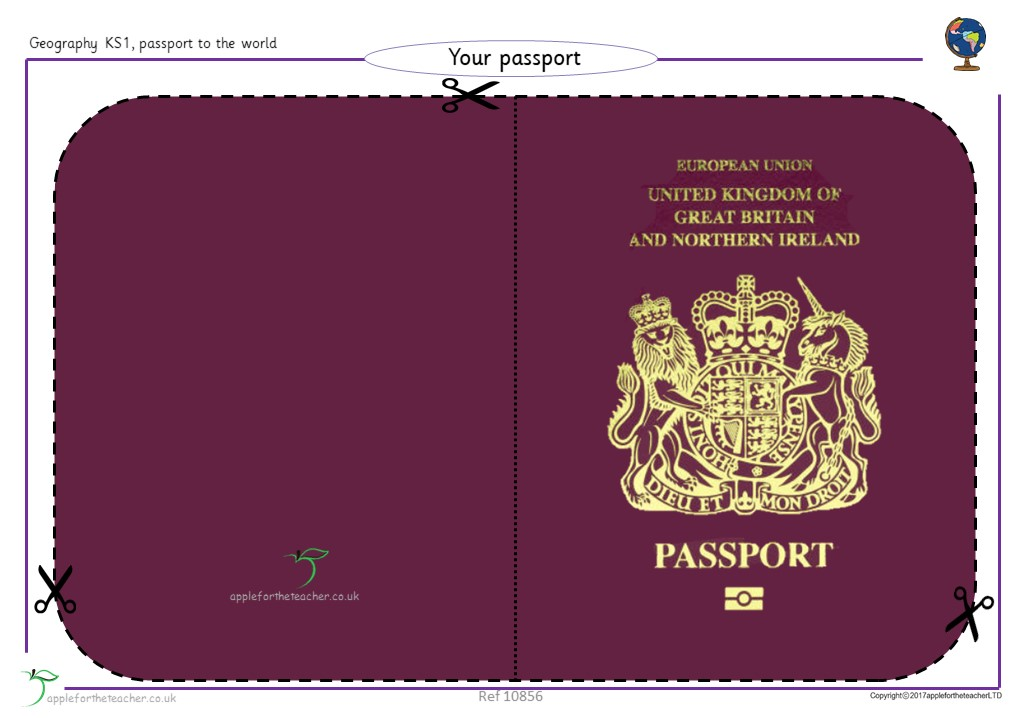 passport template year 1