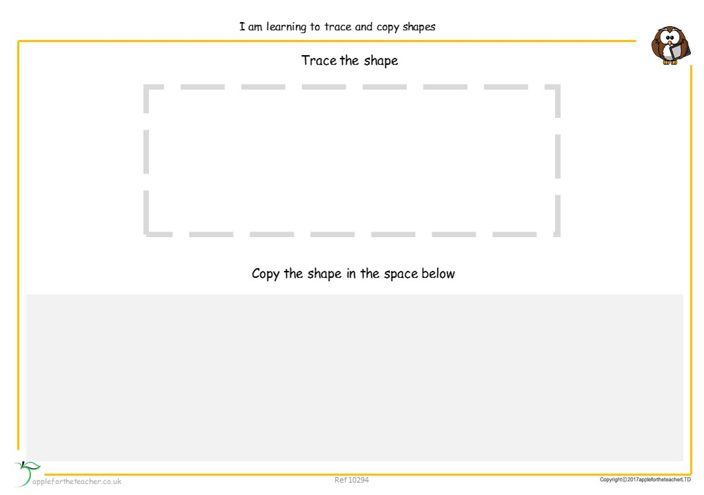 Trace And Copy Shapes | EYFS SEN