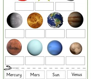 Earth And Space Labelling Planets