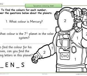 Earth And Space Colouring Quiz Spacemen
