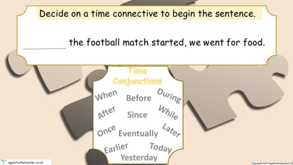 PPT - Conjunctions Powerpoint Presentation To Show Time Cause And Effect Activity.