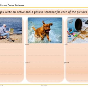 Active And Passive Verbs Picture Activity