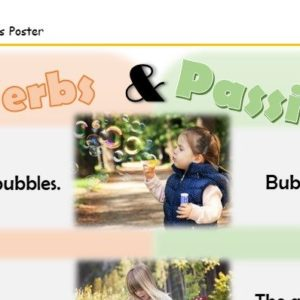 Active and passive verbs poster can be used for display or as an extra stimulus to support learners.