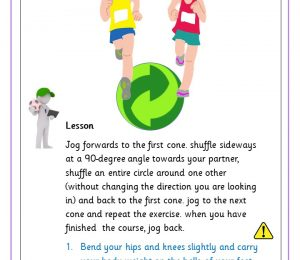 Running exercise circling partner.