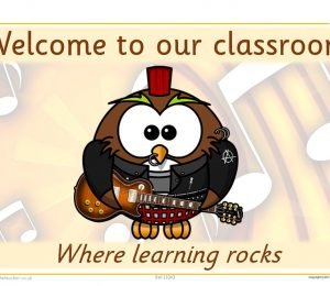 Welcome To Our Classroom Rockstar Theme Poster
