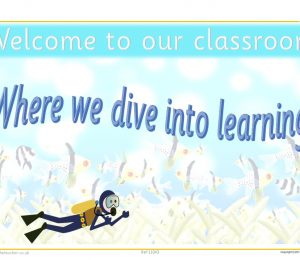 Welcome To Our Classroom Sea Theme Poster