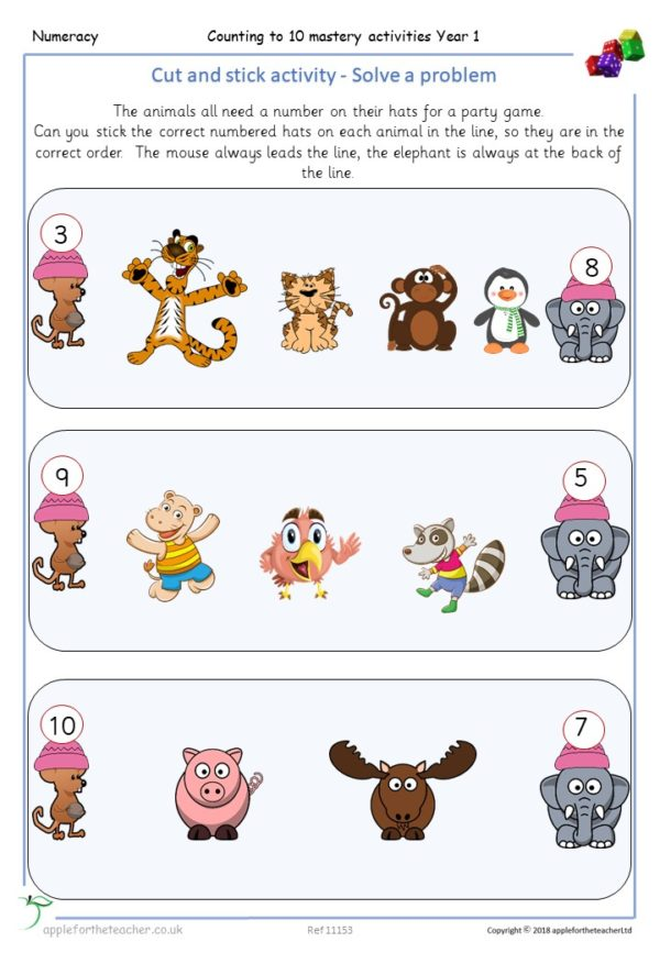 Counting To 10 Problem Solving Mastery