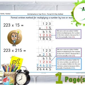 Formal Written Method Poster Long Division KS2