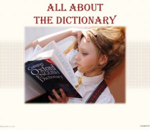 PPT - All About The Dictionary Powerpoint Presentation