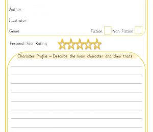 Book review template reading
