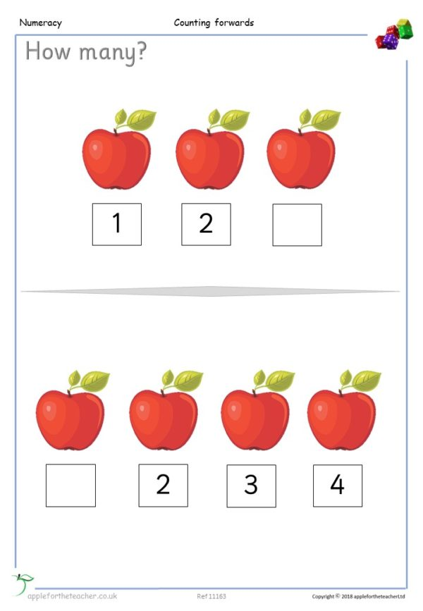 Counting Forwards Activity Small Steps Mastery