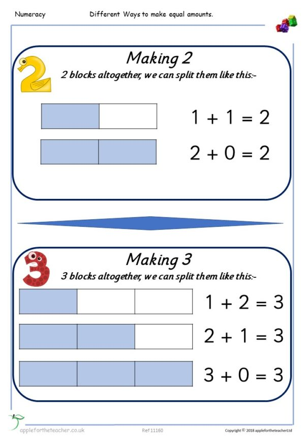 Finding Equal Amounts Addition Posters