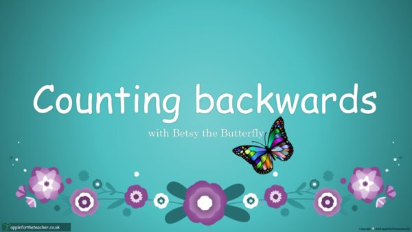 PPT - Counting backwards year 1 small steps with Betsy Butterfly powerpoint presentation maths KS1