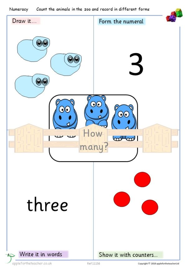 Count and record in different forms Year 1 small steps KS1