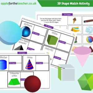 3D Shape Match Activity KS1