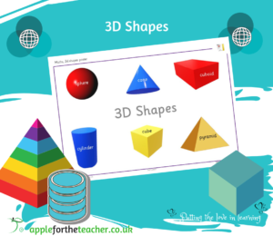 3D Shapes Poster