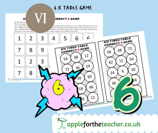 6 times table game