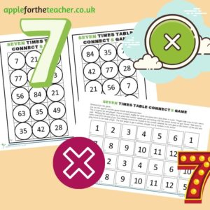 seven times table game KS2