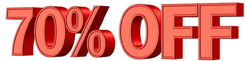70% discount voucher