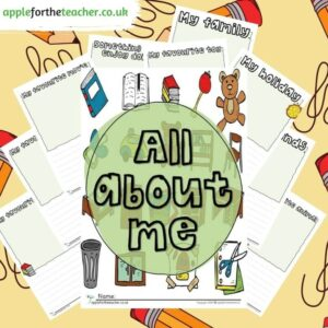 All about me early writing booklet