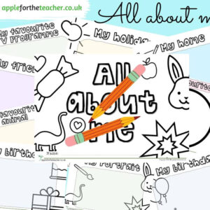 All about me picture activity booklet