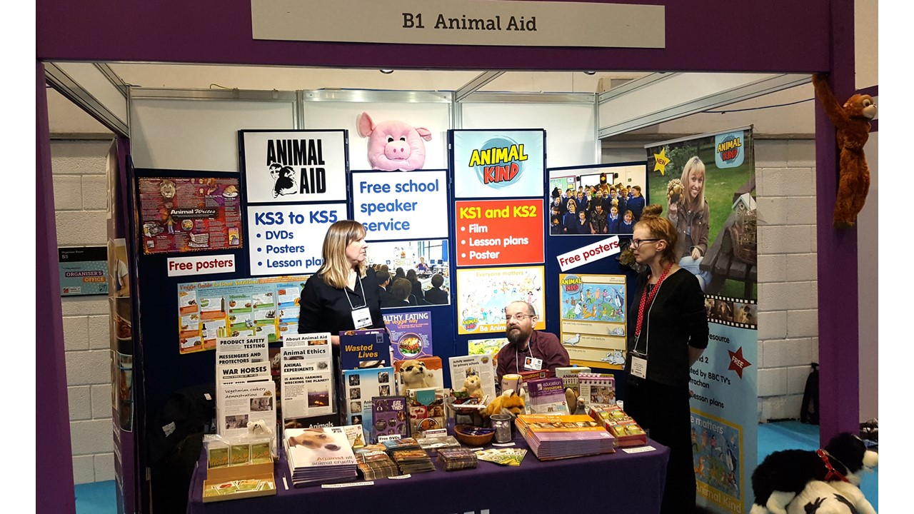 Animal Aid Superb At The Education Show London