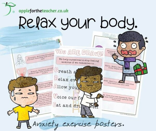 Anxiety Exercise posters