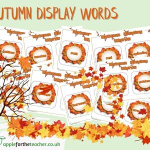 Autumn Display Words