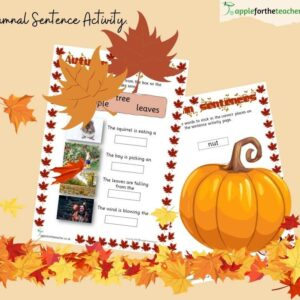 Autumn Sentences Activity