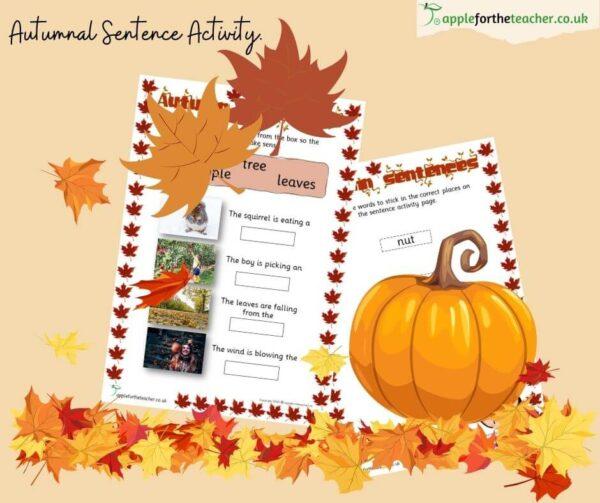 Autumn Sentences Activity