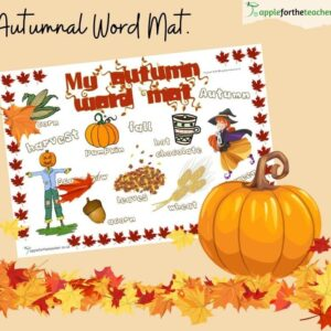 Autumn Word Mat KS1