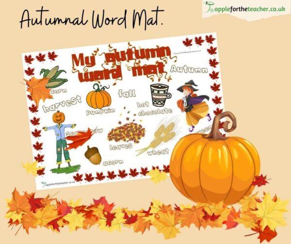 Autumn Word Mat KS1