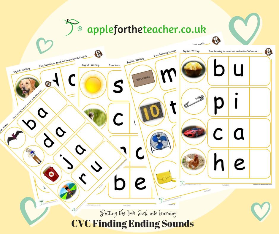 CVC Find End Sounds | SEN EYFS