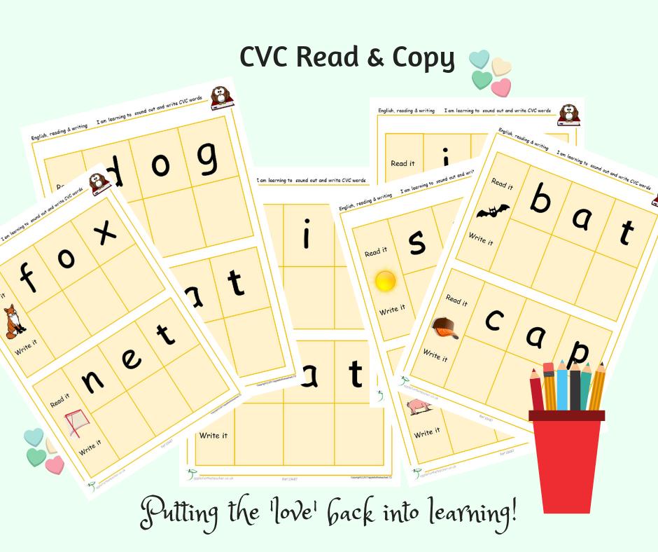 CVC Read And Copy | EYFS SEN