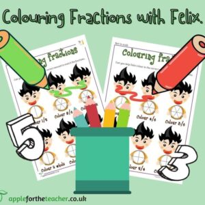 Colour Fractions KS1 Maths