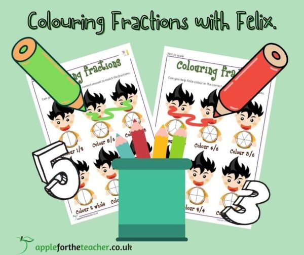 Colour Fractions KS1 Maths