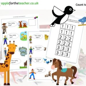Counting animals to 3