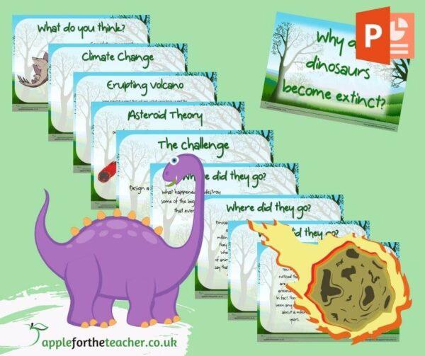 Dinosaur Extinction Powerpoint Presentation & Poster Activity