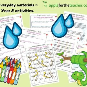 Everyday materials activities year 2