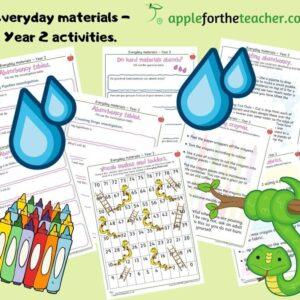 Everyday materials activities year 2