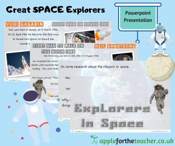 Explorers in Space Powerpoint Presentation