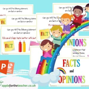 Facts and Opinions Powerpoint Presentation