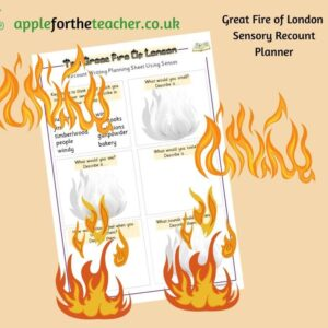 Fire of London Sensory Recount Planner