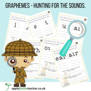 Graphemes Sound Hunt Phonics