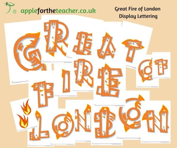 Great Fire Of London Display Lettering