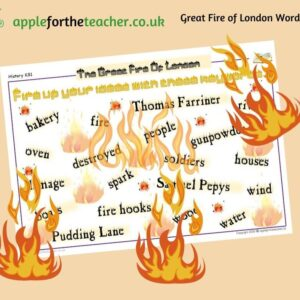 Great Fire Of London Word Mat