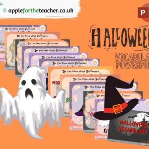 Halloween Vocabulary Powerpoint Presentation